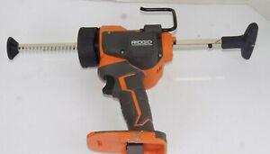RIDGID R84044 Adhesive Caulk Gun Powerful Professional Home 18-Volt 10 oz