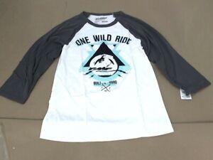 FMF Racing MX GP Motorcycle Womens One Wild Ride Graphic Raglan T-Shirt XL White