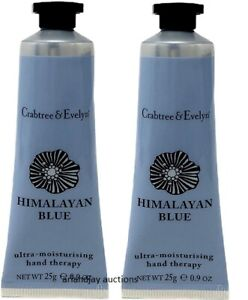 Lot of 2 Crabtree & Evelyn HIMALAYAN BLUE Ultra Moisturising Hand Therapy .9 oz