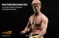 1/6 Bruce Lee Phicen PL2016-M32 Male Muscular Body Steel Skeleton In Stock