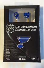 St. Louis Blues iHip Premium Audio Earphones Earbuds - iPhone iPod NEW