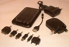 Solar Ladegerät Handy iPhone Extern Akku Power Pack USB Netz Taschenlampe ovpNEU