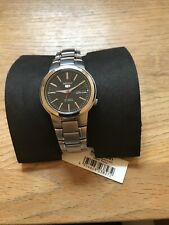 Seiko 5 Automatic Black Dial Silver Stainless Steel Mens Watch SNKA07K1