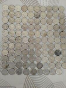 Lot des 109 pièces 5 francs semeuse argent