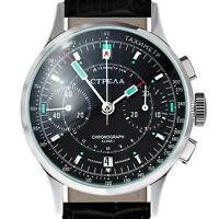 STRELA ® Chronograph COSMOS - CO38CYB-S Weltraum Uhr Chrono SAPHIR Poljot 3133