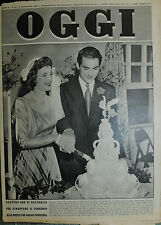 OGGI N°45/ 3/NOV/1949 * SARAH CHURCHILL SI E' SPOSATA CON ANTHONY BEAUCHAMP *