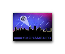 "Sacramento Kings Poster City Skyline Art Print Man Cave Decor 12x16"""