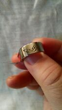 WOMEN'S STAINLESS STEEL DOLPHIN RING 8MM WIDTH, NOS, NEVER WORN SZ 5.5