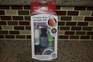 Kiss Complete Salon Acrylic Kit Nails Tips Set 64 Tips