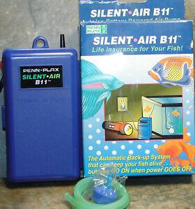 Penn Plax Silent-Air B11 Battery Back-Up Pump,Auto On with Plug In,Aquarium Pump