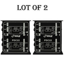 "(2) Pyle PDC22 Dual 1/4"" Instrument To Balanced & Unbalanced(1/4"" XLR)Direct Box"