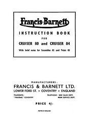 (0595) 1959-1962 Francis Barnett Cruiser 80 84 82 83 instruction book