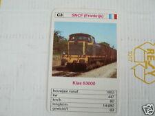24 EK LOKS C3 SNCF FRANCE KLAS 63000 TRAIN TREIN KWARTET KAART,