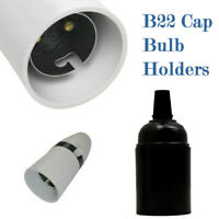 NEW SWITCHED LAMP HOLDER STANDARD BAYONET B22 CAP BC FITTING LIGHT LAMP BULB UK