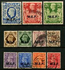 M.E.F - 1943 Set to 10/- 'ULTRAMARINE' FU SGM11-M21 Cv £27 [B0983]