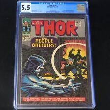 Thor #134 (Marvel 1966) 💥 CGC 5.5 WHITE PGs 💥 1st App HIGH EVOLUTIONARY! Comic