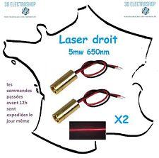 2 X Laser 5mw 650nm 9x21mm 3v pour scanner 3D cyclop