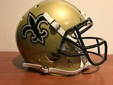 Custom Schutt XP Pro Game Style NEW ORLEANS SAINTS Football Helmet Size Large