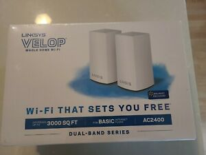 Linksys AC2400 867 + 300 Mbps Velop Intelligent Mesh WiFi System - White, 2 Pack