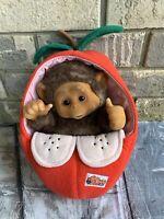 "Little Monkey Lost Plush Puppet Apple 11"" Soft Toy P6"