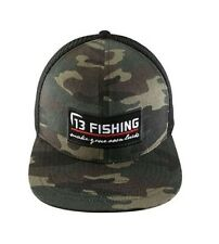 13 Fishing Brochacho Camoflauge Camo Flat Bill Snapback Hat Cap Brand New