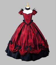 "Victorian Christmas Costume Dress Ballgown Masquerade Ball 65"" Tall Large Red"