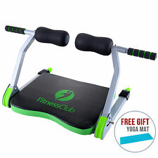 Ab Exercise Fitness Core Machine Gym Home Total Workout w/Free Yoga Mat