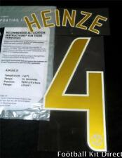 Manchester United Heinze 4 2006/07 Champions League Football Shirt Name Set