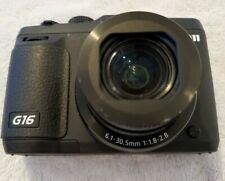 Canon PowerShot G16 Digital Camera with WiFi Black 12.1MP - NO POWER.