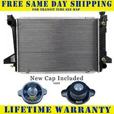 Radiator With Cap For Ford Fits Bronco Pickup F150 F250 F350 4.9 V6 6Cyl 1452WC