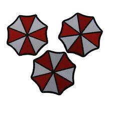 Resident Evil Umbrella Corp Umbrella Logo Embroidered Patch Set of 3