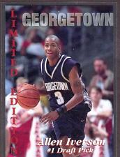 1996 ALLEN IVERSON Signature STARS Georgetown DRAFT PICK SIXERS RC LE