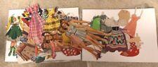 Vintage Paper Doll Lot Patsy Jane Boyfriends Western Wear Decoupage Fun 1950s