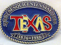Very Rare Texas Sesquicentennial Belt Buckle Enameled
