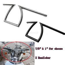 """7/8"""" & 1"""" Motorcycle Handlebars Z Drag Pullback For Harley Custom Chopper Bobber"""