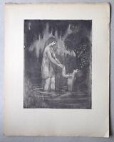 Raphael DROUART gravure maniere noire Hermaphrodite et Salmacis