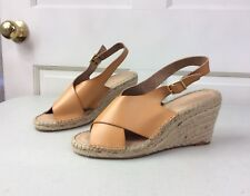 OLD NAVY Wedge Espadrille Sandals Honey Mustard Women's Size 10