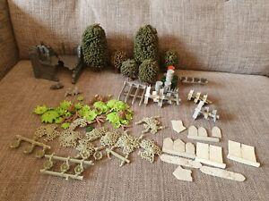 Games Workshop Warhammer 40K Scenery Trees, ruins, Accessories
