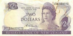 New Zealand  $2  ND. 1968  P 164b  Series  1A4  Circulated Banknote LBMt