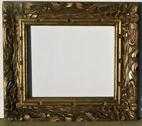 Vintage carved solid wood frame fits 10 x 12 painting