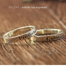 Personalized Name Ring 925 Sterling Silver Custom Engagement Wedding Ring