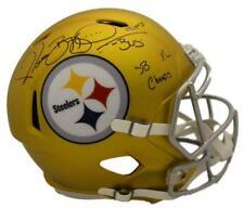 Jerome Bettis Signed Pittsburgh Steelers Blaze Replica Helmet 3 Insc BAS 23933