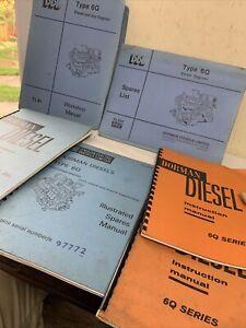 Dorman Diesel 6Q Engines Manuals c1970s Job Lot x6
