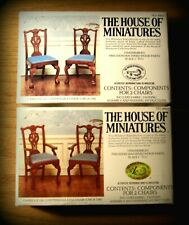 2 DOLL HOUSE OF MINIATURES CABRIOLE LEG CHAIR KITS, ARM & SIDES, FORMAL DINING