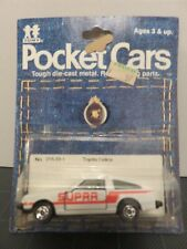 Tomy Tomica Pocket Cars Toyota Celica White Supra #33 Die-Cast Metal Japan 1/64