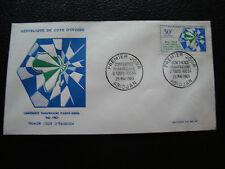 COTE D IVOIRE - enveloppe 1er jour 25/5/1963 (cy72)