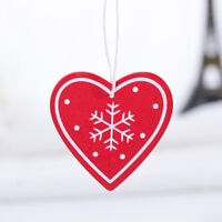 10pcs Wooden DIY Christmas Tree Hanging Love Heart Star Ornaments Pendant MP