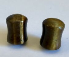 Evolve Jewelry  0 Gauge Double Flare Tiger Eye Stone Plugs Variegated