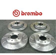for BMW 318I 318D E46 BREMBO CROSS DRILLED & GROOVED BRAKE DISC FRONT REAR