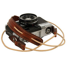 Rally Volpe leather neck strap for RF film Digital camera Leica padded